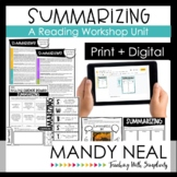 Summarizing Reading Workshop Unit | Print + Digital