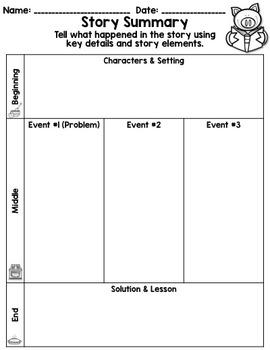 Summarizing: Retelling with Key Details