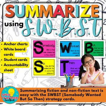 Summarizing- SWBST Anchor Charts