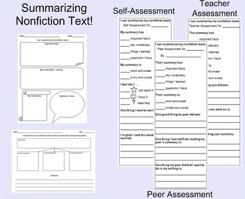 Summarizing Self, Peer, and Teacher Assessments with Handouts!