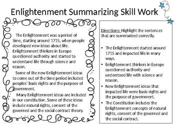 Summarizing Skill Work