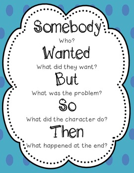 Summary Writing-Somebody, Wanted, But, So, Then...