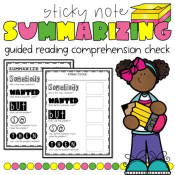 Summarizing Sticky Note Guided Reading Activity