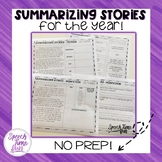 Summarizing Stories For the Year (no prep)