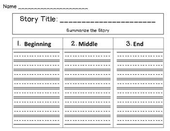 Summarizing Story Map FREEBIE