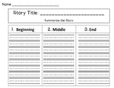 Summarizing Story Map FREEBIE