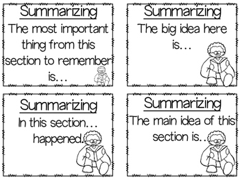 Summarizing (Student Activities and Graphic Organizer)