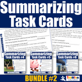 Summarizing Task Card Bundle 2 (Summarizing Informational Texts)