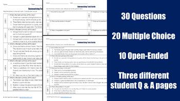 Summarizing Task Cards 2 (STAAR)