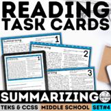 Summarizing Task Cards   PDF & Digital   Distance Learning