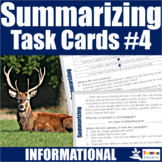 Summarizing Task Cards 4 (Informational Texts)