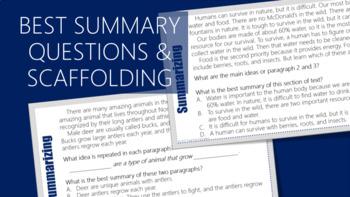 Summarizing Task Cards 4 (Informational Texts)