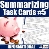 Summarizing Task Cards #5 (Informational Text)