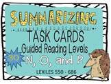 Summarizing Task Cards For Each Guided Reading Level (Leve