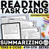 Summarizing Task Cards Grades 3-5 | PDF & Google Forms