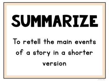 Summarizing Task Cards for Reading Comprehension