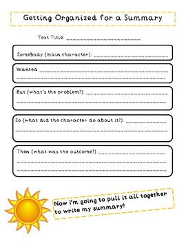 Summarizing Text 3-day lesson