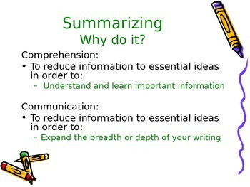 Summarizing Text Powerpoint