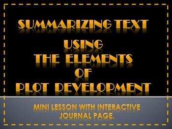 Summarizing Text Using Plot Development