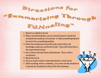 Summarizing Through FUNneling - Nonfiction