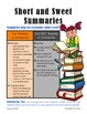 Summarizing Unit, aligned to common core standards, grades 3-5
