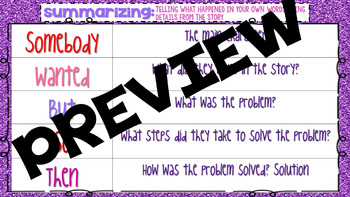 Summarizing Valentines SWBST Activity Practice the Summarize Strategy