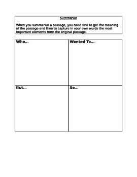 Summarizing Worksheet Teaching Resources | Teachers Pay Teachers