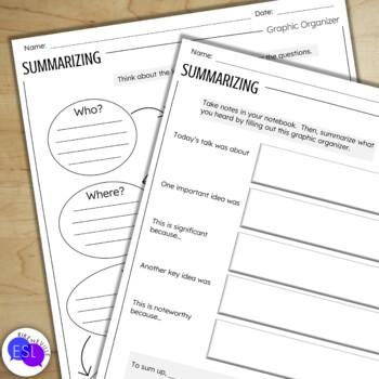 Summarizing - Writing Activities