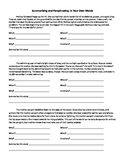 Summarizing and Paraphrasing Printable