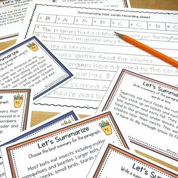 Summarizing and Paraphrasing Task Cards