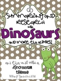 Summarizing and Research with Dinosaurs ELA Unit