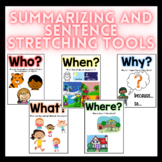 Summarizing and Stretch a Sentence Reading, Writing and Speaking Tools