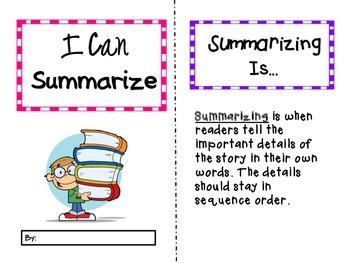 Summarizing booklet for multiple books FREEBIE