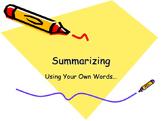 Summarizing narrative text notebook file
