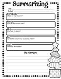 Summarizing organizer - Christmas Theme