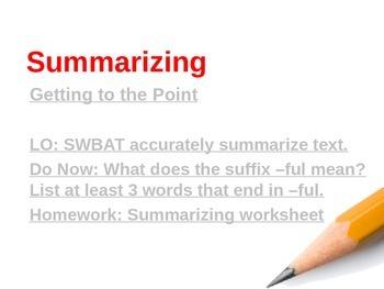 Summarizing power-point