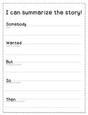 Summarizing the Story Graphic Organizer