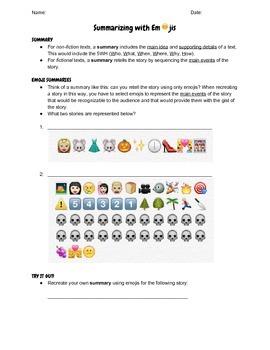 Summarizing with Emojis