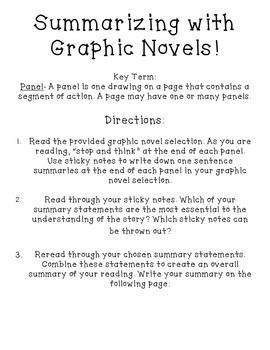 Summarizing with Graphic Novels