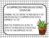 Summarizing with Main Idea and Key Details