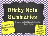Summarizing with Sticky Notes...COOL!