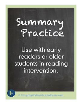 Summary (Multisensory Practice for Reading Intervention)
