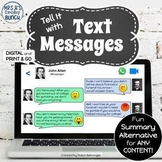 Distance Learning Summary Activity | Digital and Print