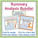 Summary Analysis Bundle-27 Passages for Strategic Test-Prep/Assessment