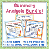 Summary Analysis Bundle-27 Passages for Strategic Test-Pre