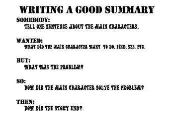 Summary Book Reports