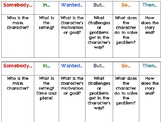Summary Bookmarks or Table Tents (Nonfiction-5WH and Ficti