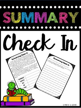 Summary Check In (Leveled)