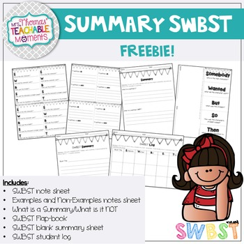 Summary SWBST Foldable and more! FREEBIE!