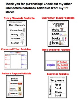 Summary Foldable: Interactive Notebook